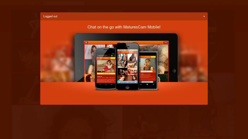 Go mobile with MaturesCam.com