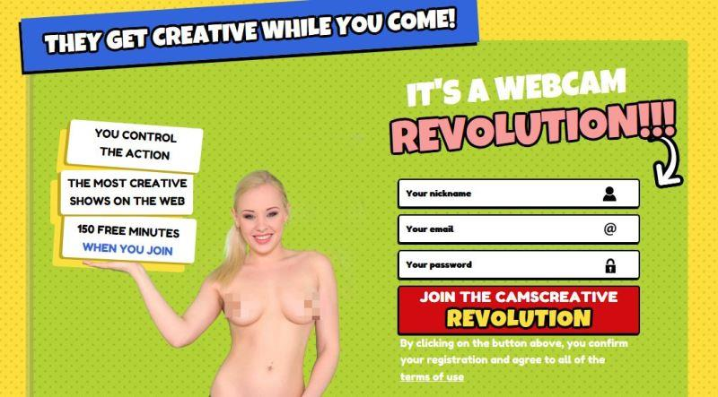 Sign up to CamsCreative