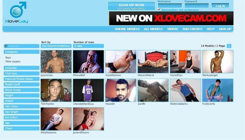 Hot men on web cameras
