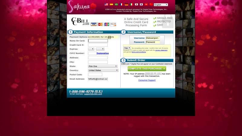 Buying points at SakuraLive.com