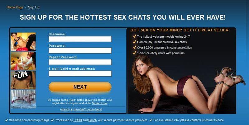 Register to Sexier.com