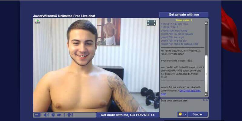 A sweet guy on live adult cams