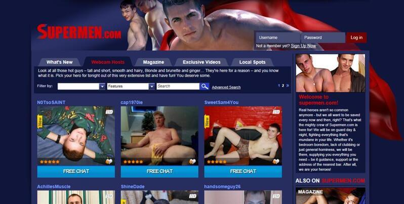 Horny webcam men on Supermen.com