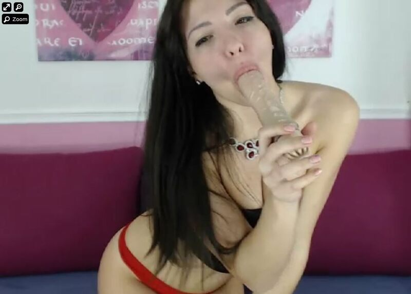 Kinky European chat host has her mouth full on XLoveCam.com