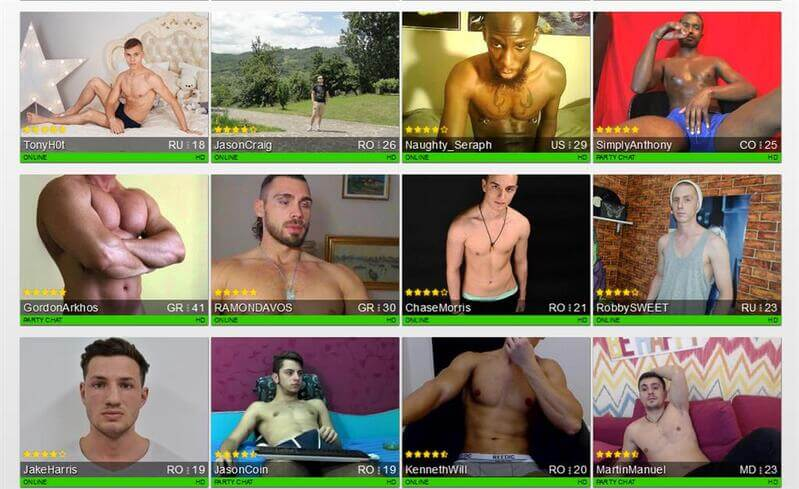 Chat with any of these hot men, right now